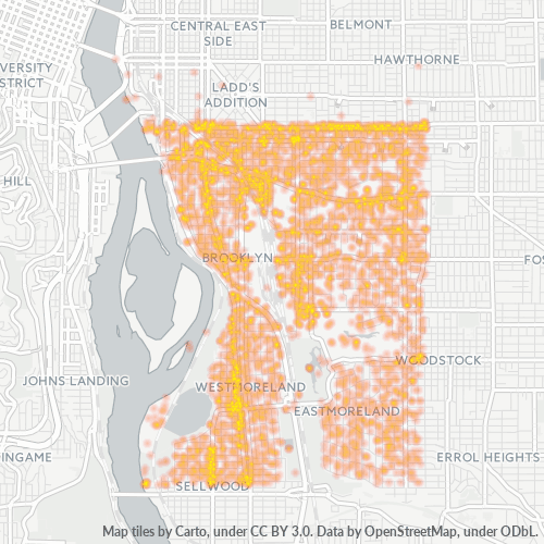 97202 Business Density Heatmap