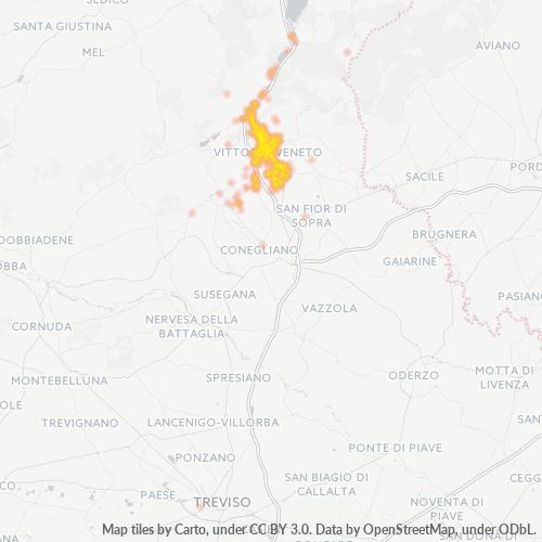 31029 Mappa di concentrazione per la densità di aziende