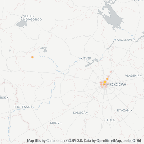 129337 Тепловая карта плотности предприятий