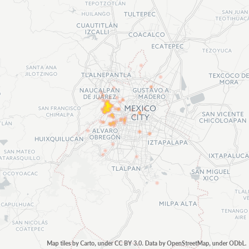 11200 Mapa de calor de densidad empresarial