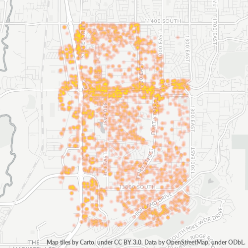 84020 Business Density Heatmap