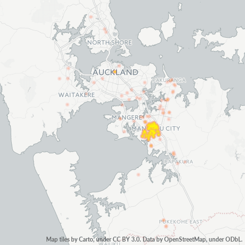 2104 Business Density Heatmap
