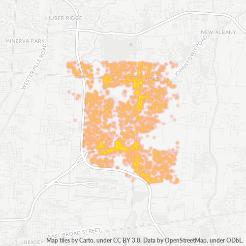 43230 Business Density Heatmap