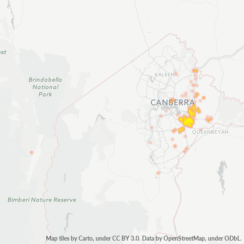 2609 Business Density Heatmap