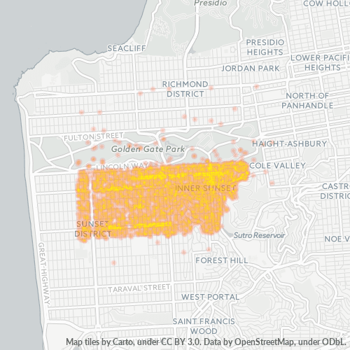 94122 Business Density Heatmap