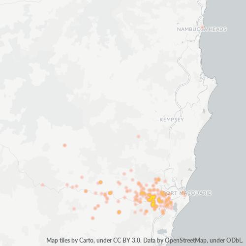 2446 Business Density Heatmap