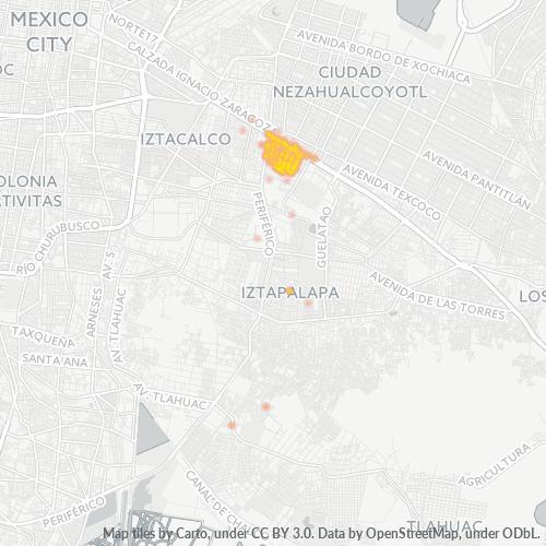 09210 Mapa de calor de densidad empresarial