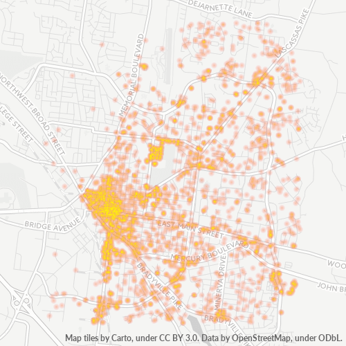 37130 Business Density Heatmap