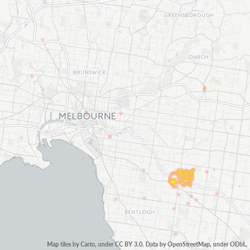 3148 Business Density Heatmap