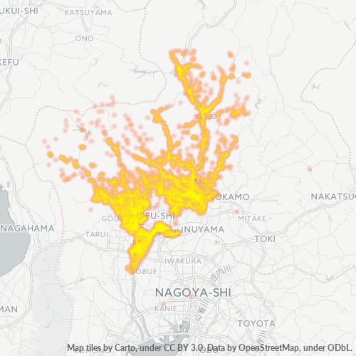 501 事業密度ヒートマップ