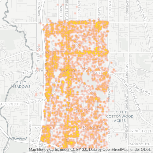 84107 Business Density Heatmap