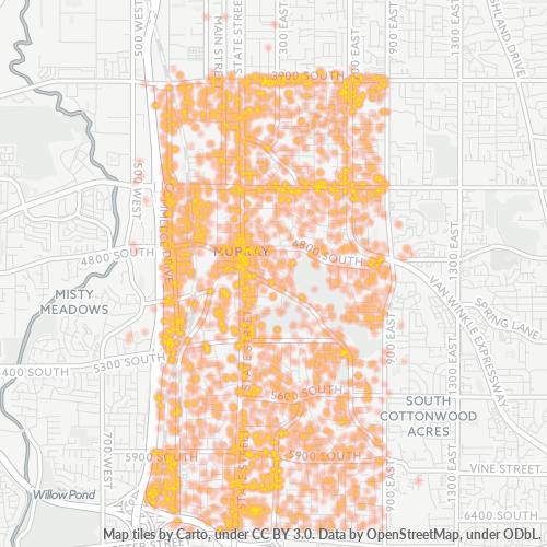 84107 Business Density Heatmap