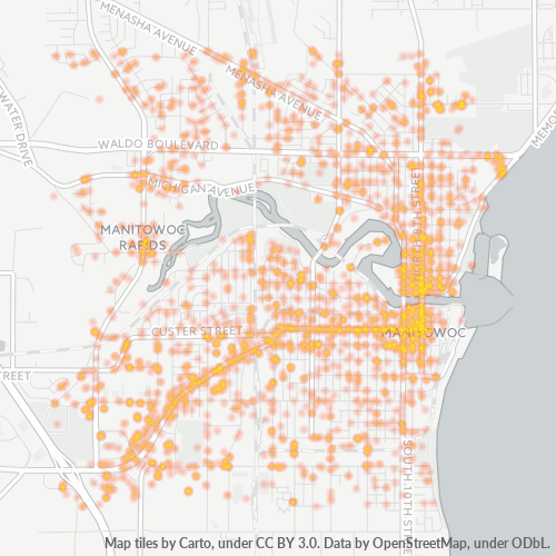 54220 Business Density Heatmap