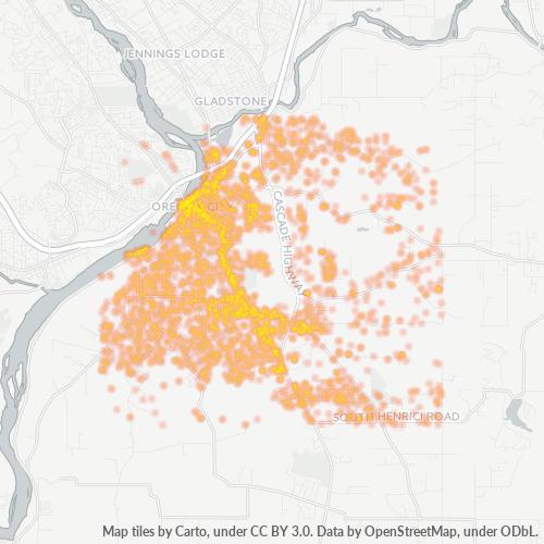 97045 Business Density Heatmap