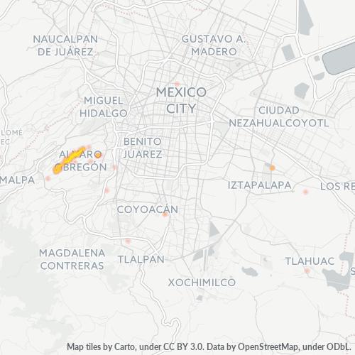 01296 Mapa de calor de densidad empresarial