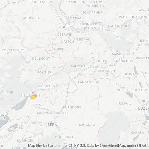 2555 Standortdichte-Heatmap