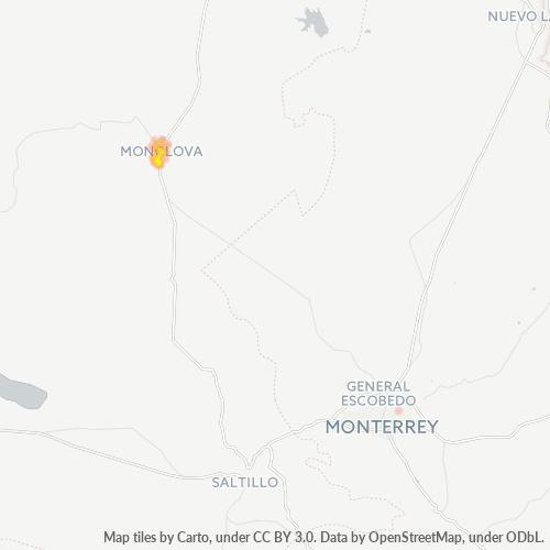 25790 Mapa de calor de densidad empresarial