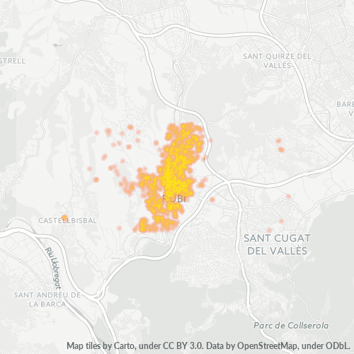 08191 Mapa de calor de densidad empresarial