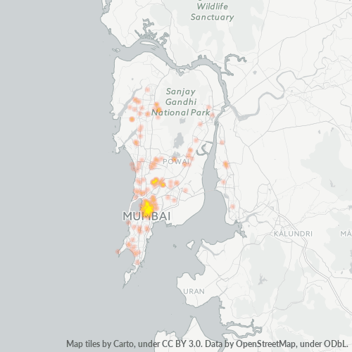400019 Business Density Heatmap