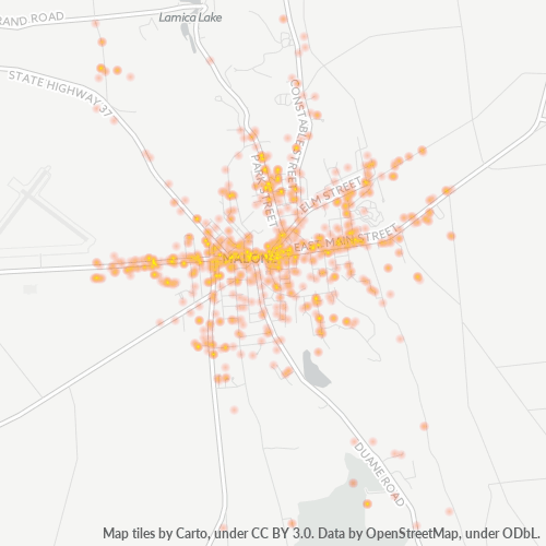 12953 Business Density Heatmap