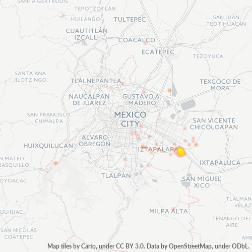 09630 Mapa de calor de densidad empresarial