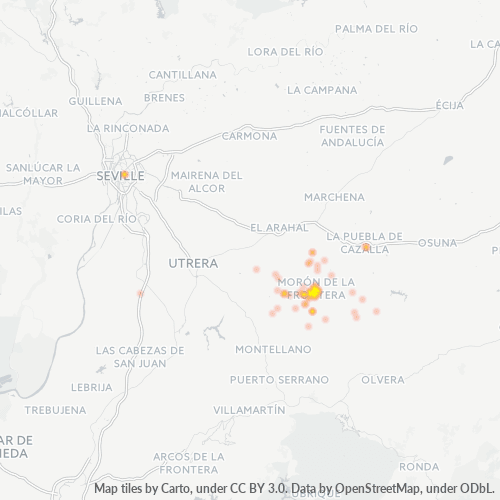 41530 Mapa de calor de densidad empresarial
