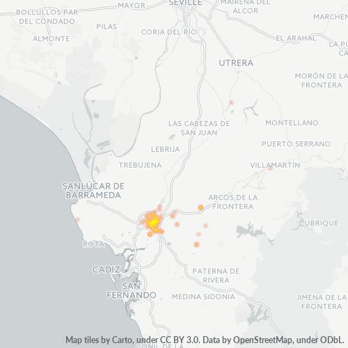 11406 Mapa de calor de densidad empresarial