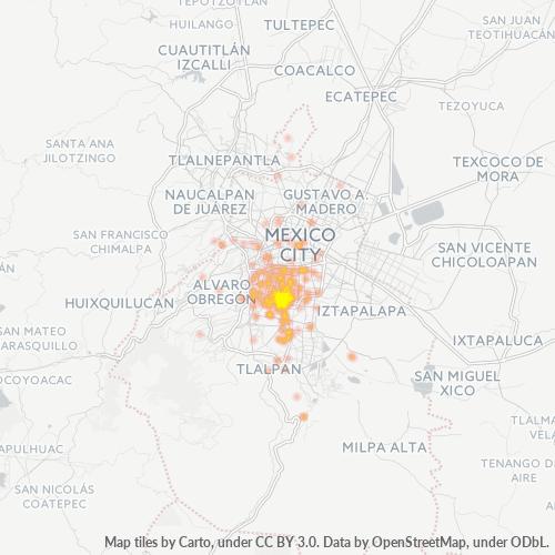 03300 Mapa de calor de densidad empresarial