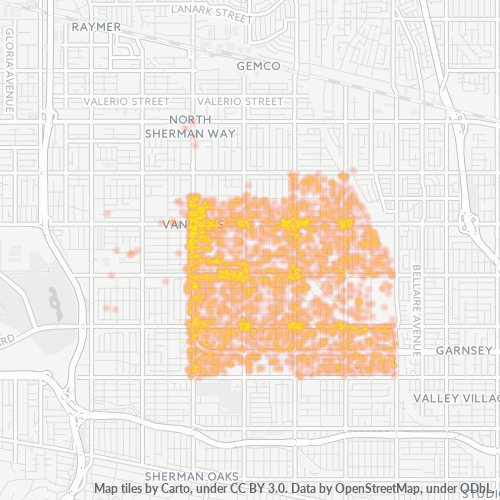 91401 Business Density Heatmap