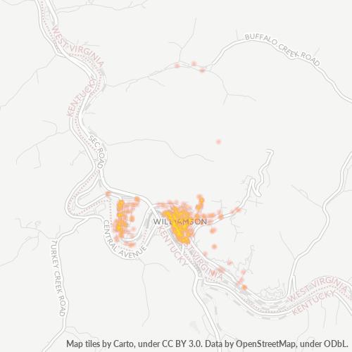 25661 Business Density Heatmap