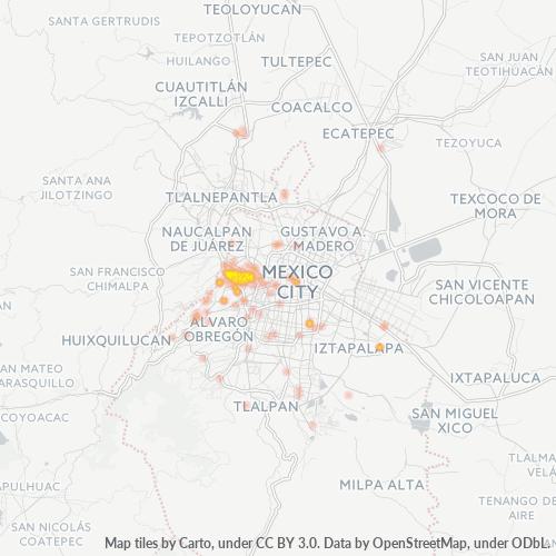 11510 Mapa de calor de densidad empresarial