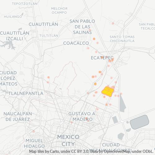 55130 Mapa de calor de densidad empresarial