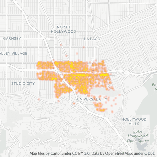 91602 Business Density Heatmap