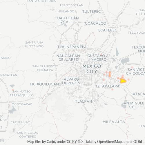 57840 Mapa de calor de densidad empresarial