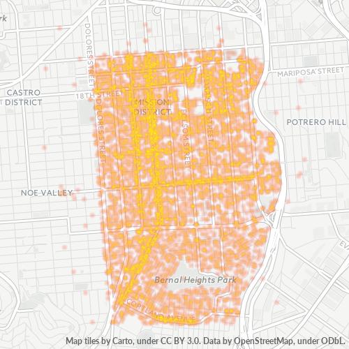 94110 Business Density Heatmap