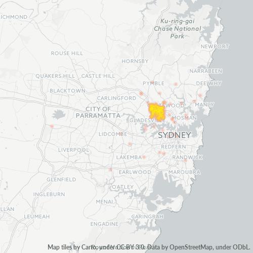 2066 Business Density Heatmap