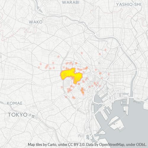 160 事業密度ヒートマップ