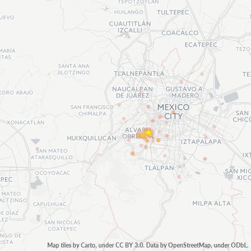 01460 Mapa de calor de densidad empresarial
