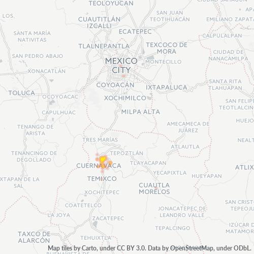 62240 Mapa de calor de densidad empresarial