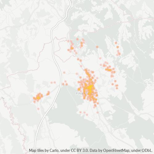 7423 Standortdichte-Heatmap