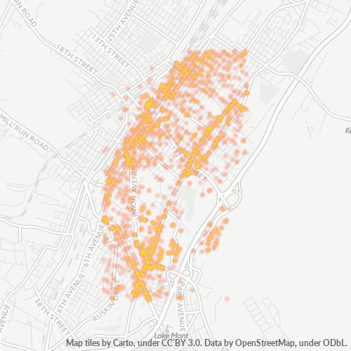 16602 Business Density Heatmap