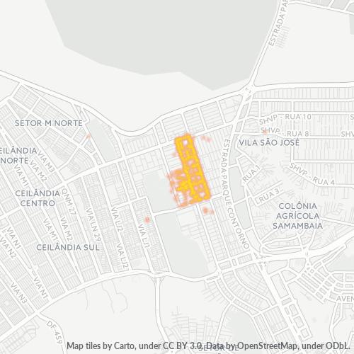 72125-000 Heatmap de Densidade da Empresa