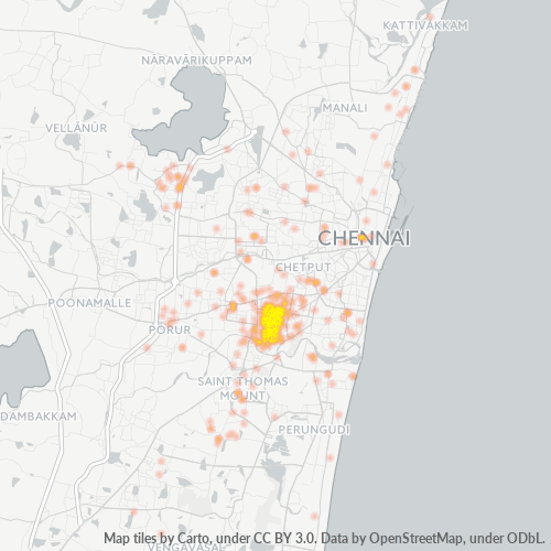 600033 Business Density Heatmap