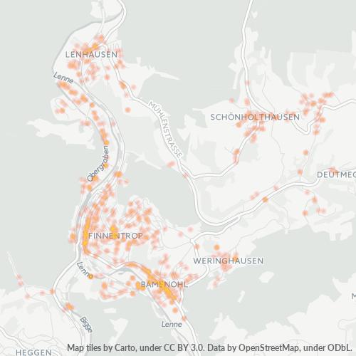 57413 Standortdichte-Heatmap