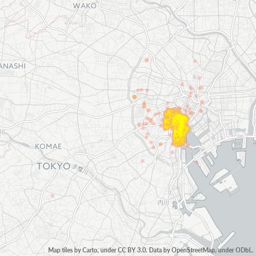 105 事業密度ヒートマップ