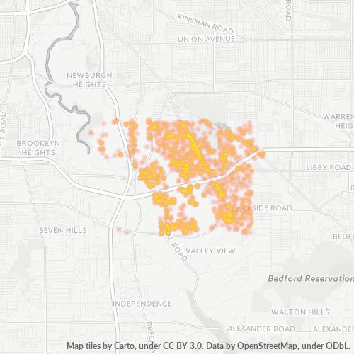44125 Business Density Heatmap