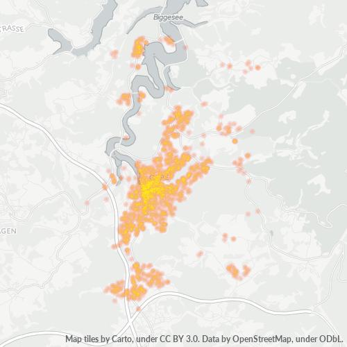 57462 Standortdichte-Heatmap
