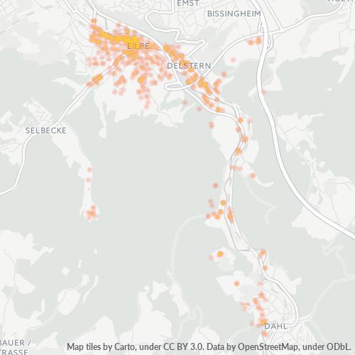 58091 Standortdichte-Heatmap
