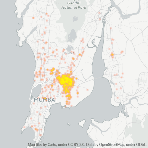 400071 Business Density Heatmap
