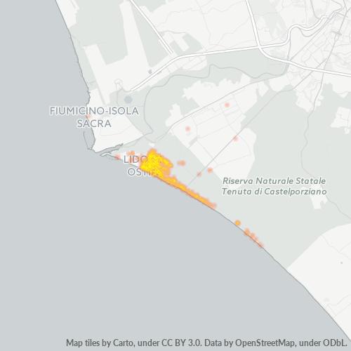 00122 Mappa di concentrazione per la densità di aziende